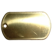 Brass Dog Tag - Blank
