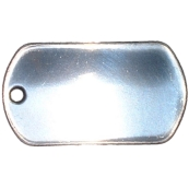 Stainless Steel Bright Dog Tag - Blank